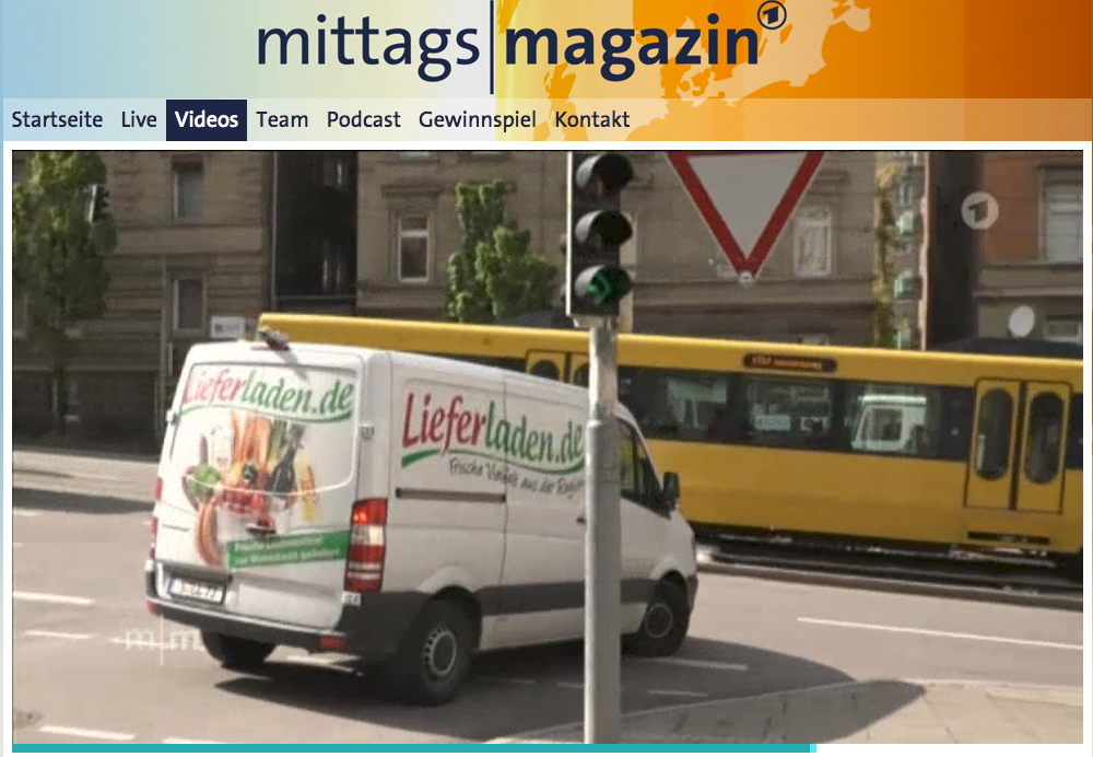 Screenshot Mittagsmagazin Lieferladen