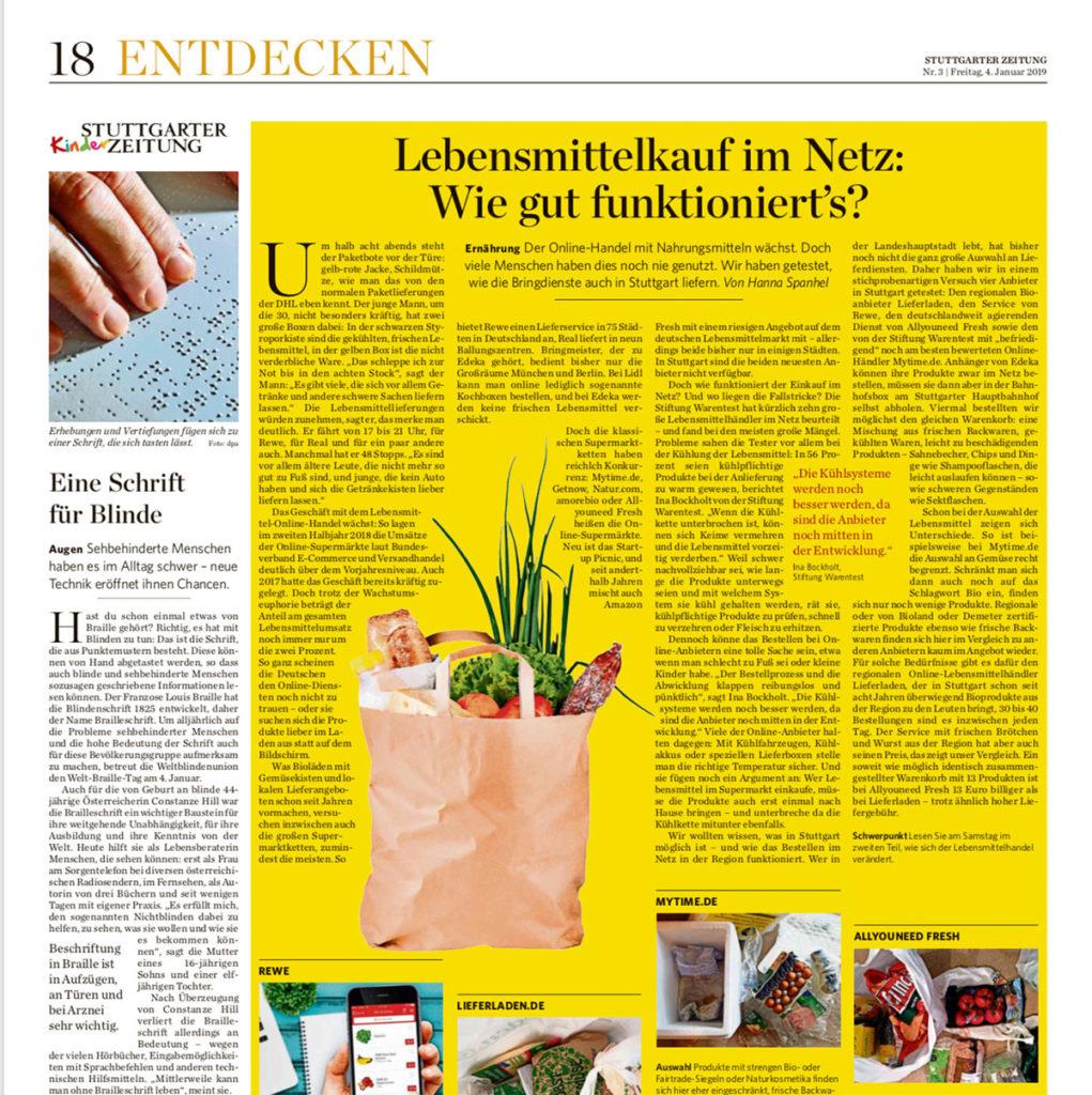 Stuttgarter Zeitung vom 4.1.2019, Seite 18